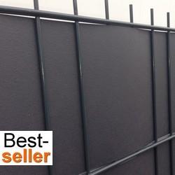 flechtstreifen aus kunststoff k nnen leicht in einen doppelstabmattenzaun eingeflochten werden. Black Bedroom Furniture Sets. Home Design Ideas