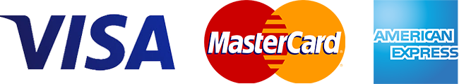 Amercian Express, Mastercard & Visacard