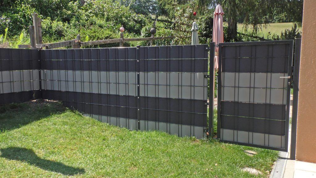 Doppelstabmatten-Sichtschutzzaun